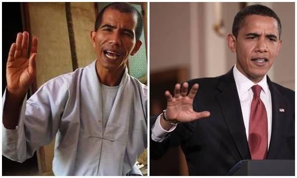 Thầy tu sống ẩn dật ở Lâm Đồng giống hệt Tổng thống Mỹ Obama 1