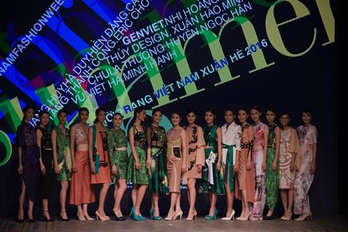 Tuần lễ thời trang Việt Nam xuân hè 2016  - Sắc màu một ngày mới 22
