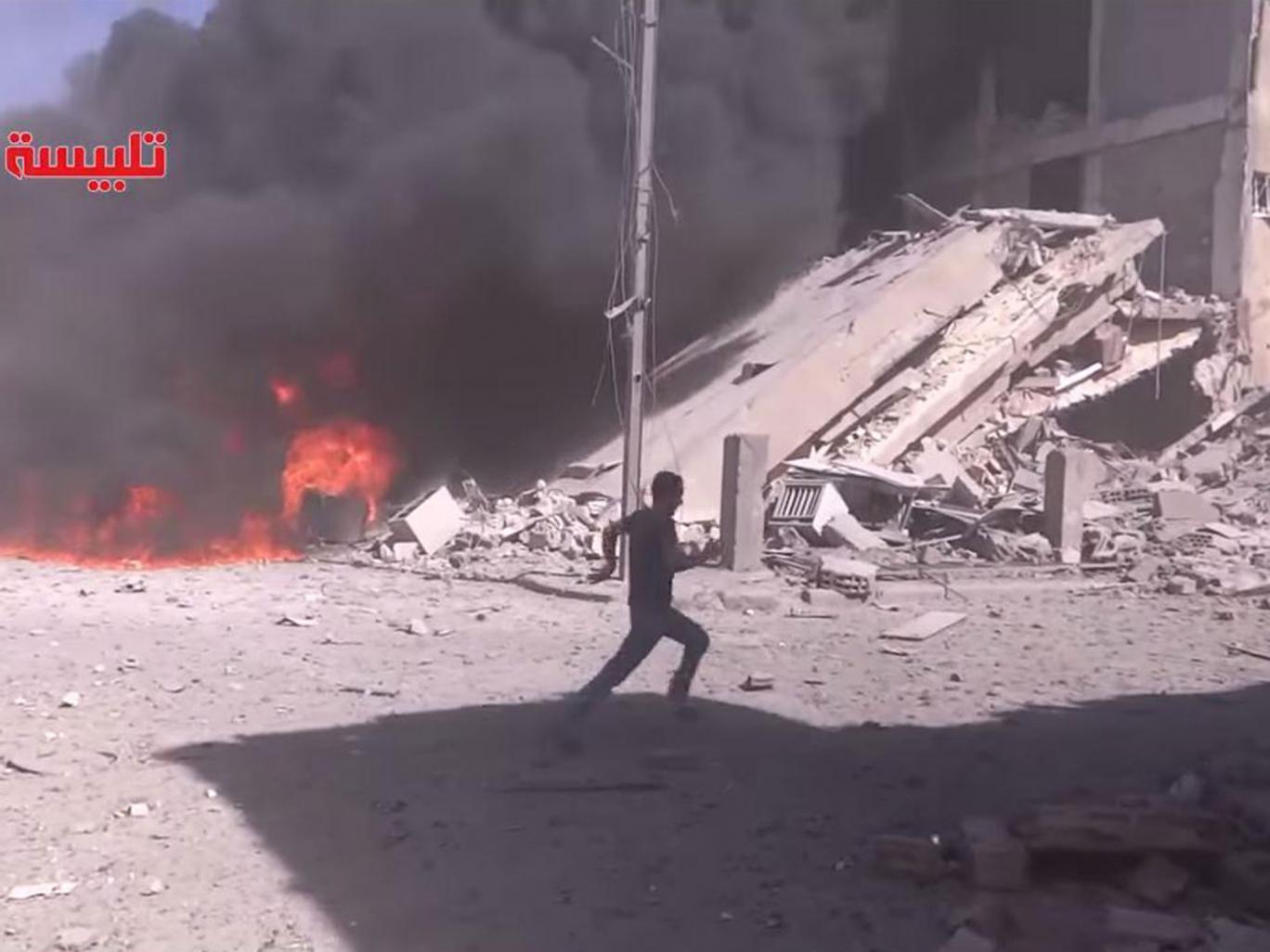 Nga bắt đầu không kích IS tại Syria 1