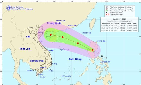 Áp thấp nhiệt đới đã mạnh lên thành bão Mujigae tiến sát Biển Đông 1