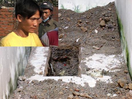 Cha chôn xác con 5 tuổi trong nhà: Kết quả khám nghiệm tử thi 1