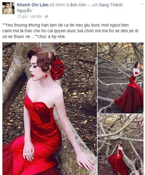 Facebook sao Việt: Kỳ Duyên chia sẻ đầy tâm trạng trên trang cá nhân 12
