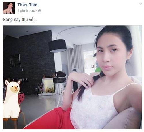 Facebook sao Việt: Kỳ Duyên chia sẻ đầy tâm trạng trên trang cá nhân 7