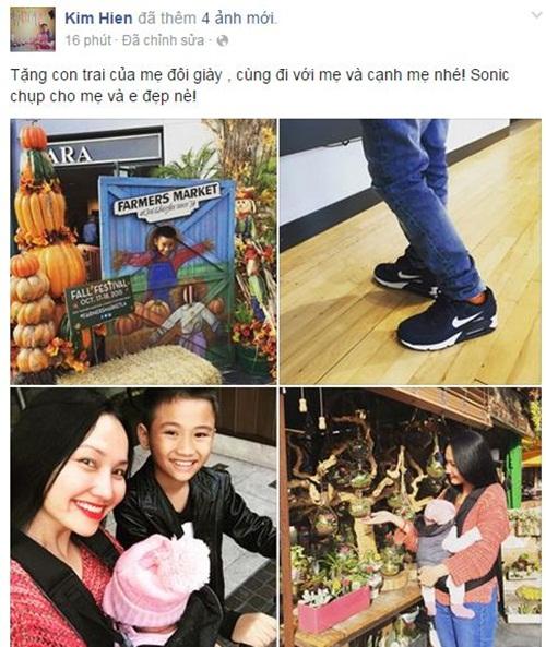 Facebook sao Việt: Phan Hiển hạnh phúc khi được con trai đánh thức 6