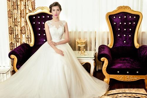 Á hậu Lệ Hằng quyến rũ với váy cưới 6