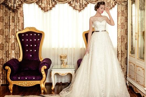Á hậu Lệ Hằng quyến rũ với váy cưới 12