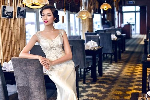 Á hậu Lệ Hằng quyến rũ với váy cưới 7