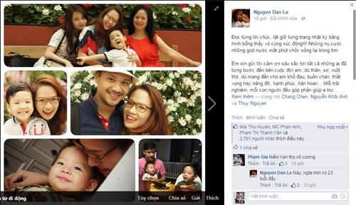 Facebook sao Việt: Đan Lê gửi lời cảm ơn đầy xúc động nhân dịp sinh nhật 1