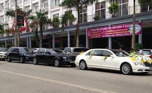 Dàn xe rước dâu 60 tỷ ở Thái Nguyên 1