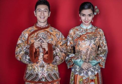 Huỳnh Hiểu Minh và Angela Baby khoe khéo ảnh cưới hài hước 1