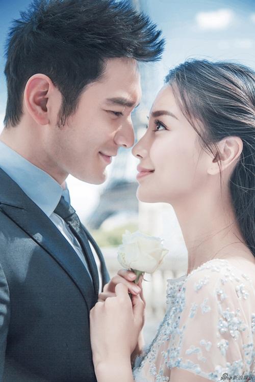 Huỳnh Hiểu Minh và Angela Baby khoe khéo ảnh cưới hài hước 5