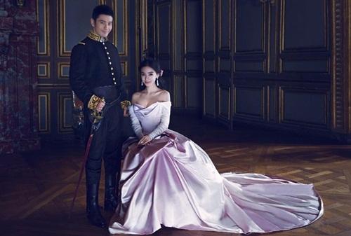 Ảnh cưới siêu lãng mạn của Angela Baby và Huỳnh Hiểu Minh 5