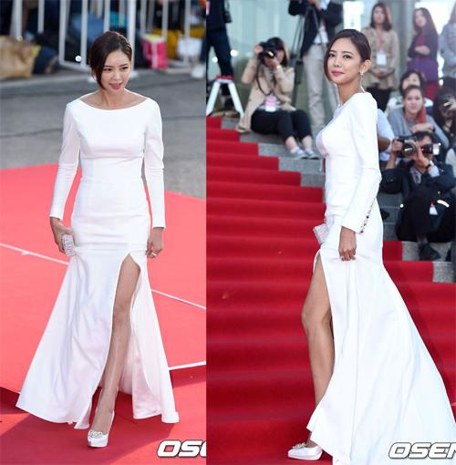 Kim Tae Hee đẹp lấn án dàn sao trẻ trên thảm đỏ 4