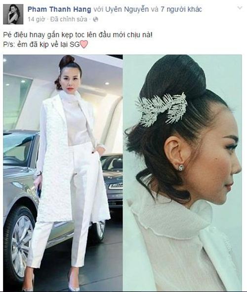 Facebook sao Việt: Hương Tràm