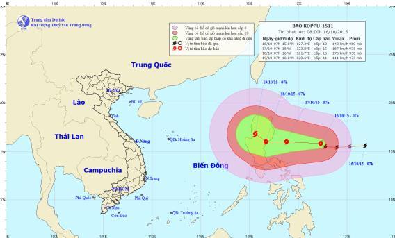 Xuất hiện siêu bão giật cấp 16 ngoài Biển Đông 1