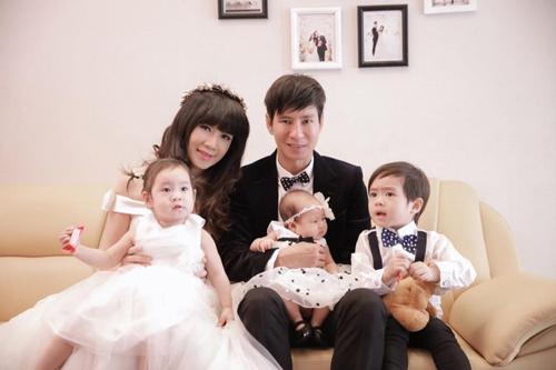 Những bà mẹ đông con và viên mãn nhất showbiz Việt 5