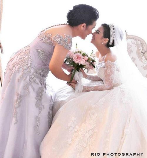 Đám cưới xa hoa, hoành tráng không thua kém Huỳnh Hiểu Minh của diễn viên Indonesia 13