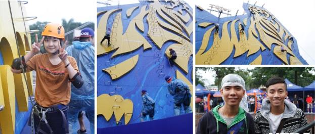 'Biển người' tham gia thử thách bức tường cao 25m 4