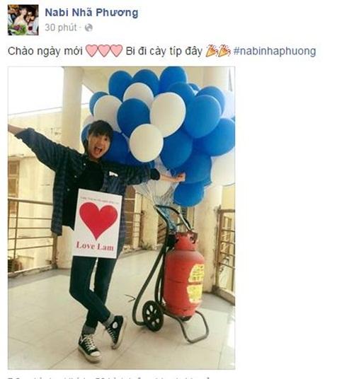 Facebook sao Việt: Diễn viên Văn Anh hóa cô dâu hài hước 7