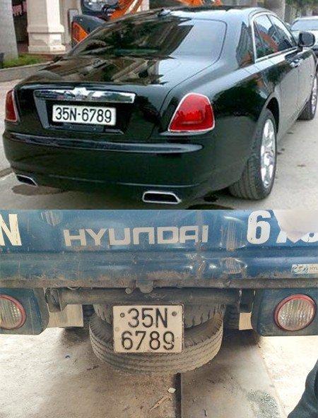 Siêu xe Rolls-Royce 17 tỷ trùng biển số với xe tải  1