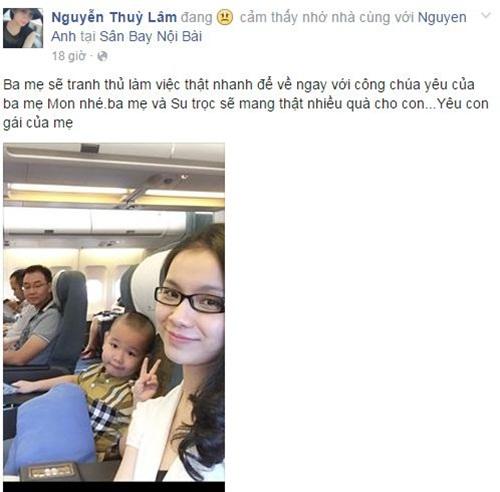 Facebook sao Việt: Khánh Thi tâm sự với con trai đầy tình cảm 5