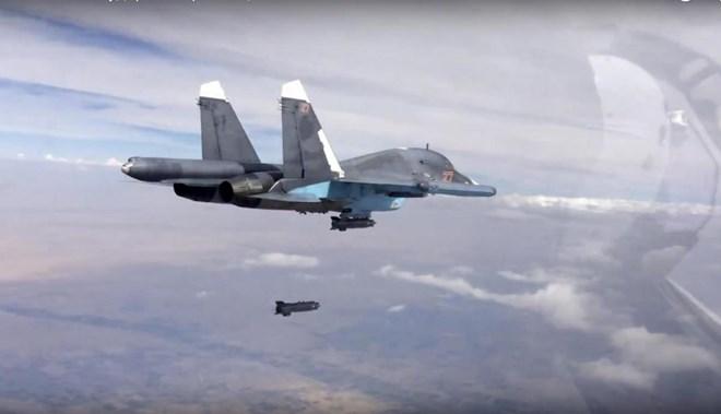 Hình ảnh Nga dùng bom xuyên bê tông nặng nửa tấn hủy diệt IS số 1
