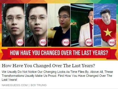 """Hình ảnh Ứng dụng """"bạn thay đổi thế nào sau 5 năm"""" gây bão Facebook số 2"""