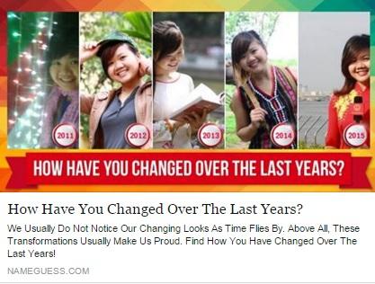 """Ứng dụng """"bạn thay đổi thế nào sau 5 năm"""" gây bão Facebook 3"""