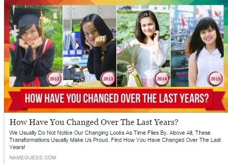 """Hình ảnh Ứng dụng """"bạn thay đổi thế nào sau 5 năm"""" gây bão Facebook số 4"""