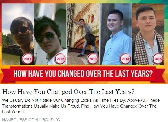 """Ứng dụng """"bạn thay đổi thế nào sau 5 năm"""" gây bão Facebook 6"""