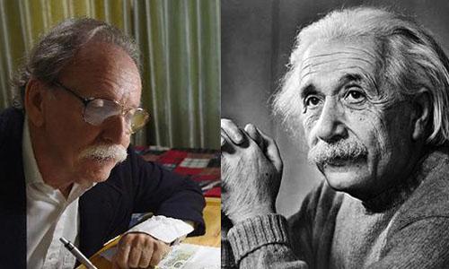 Ảnh giáo sư giống Einstein như đúc gây