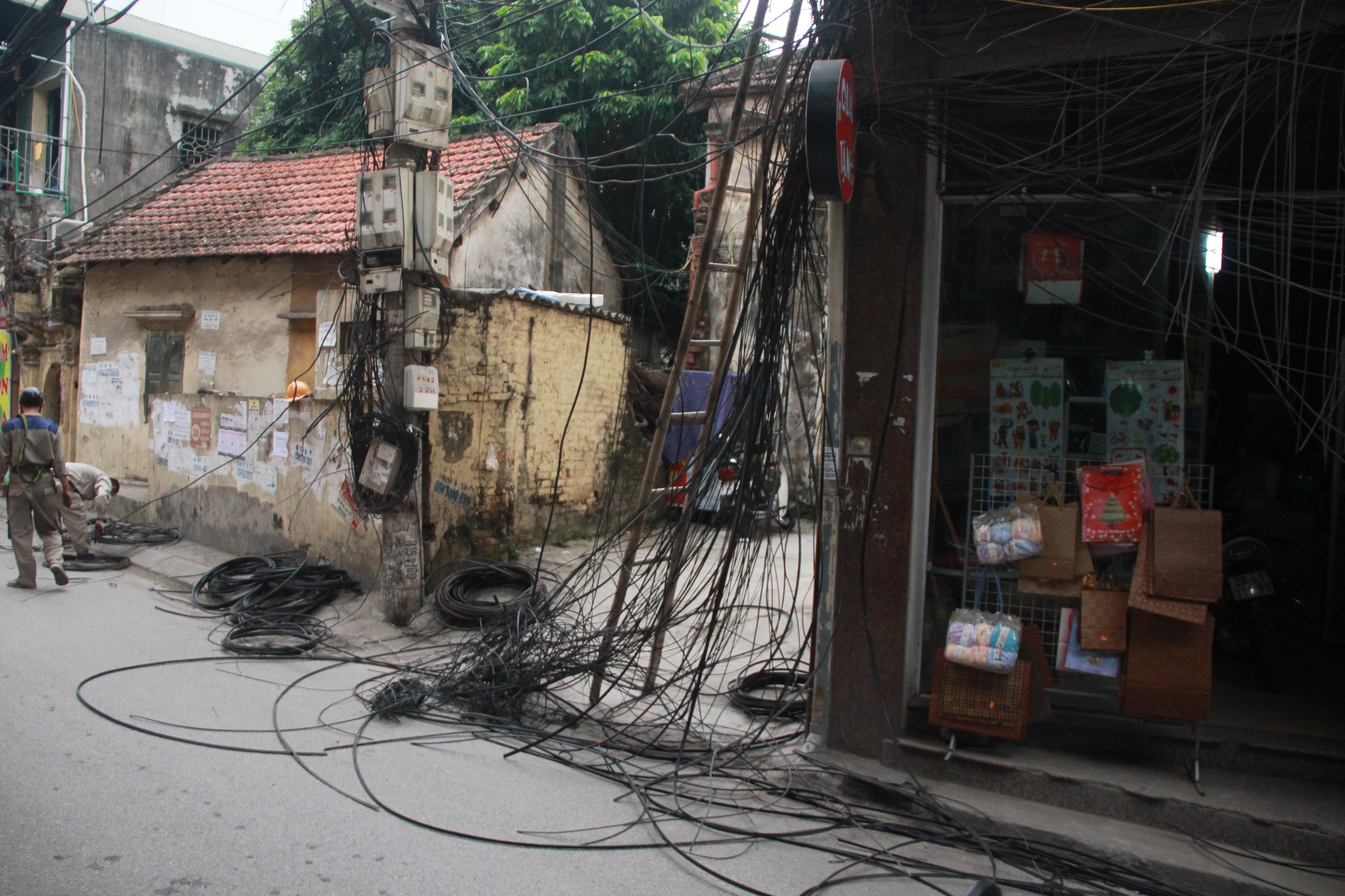 Hình ảnh Cận cảnh dọn ổ mạng nhện khổng lồ ở Hà Nội số 1