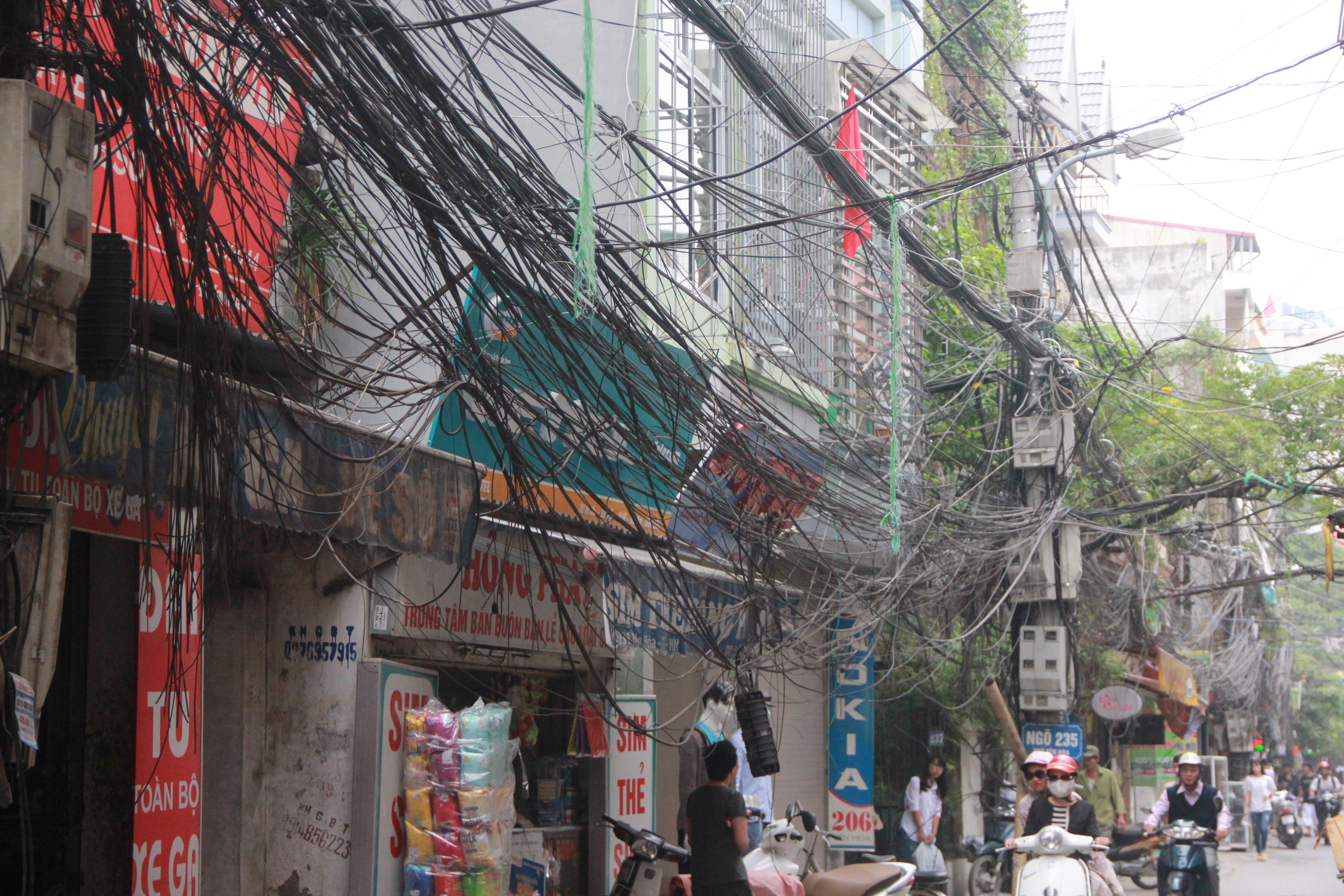 Hình ảnh Cận cảnh dọn ổ mạng nhện khổng lồ ở Hà Nội số 9