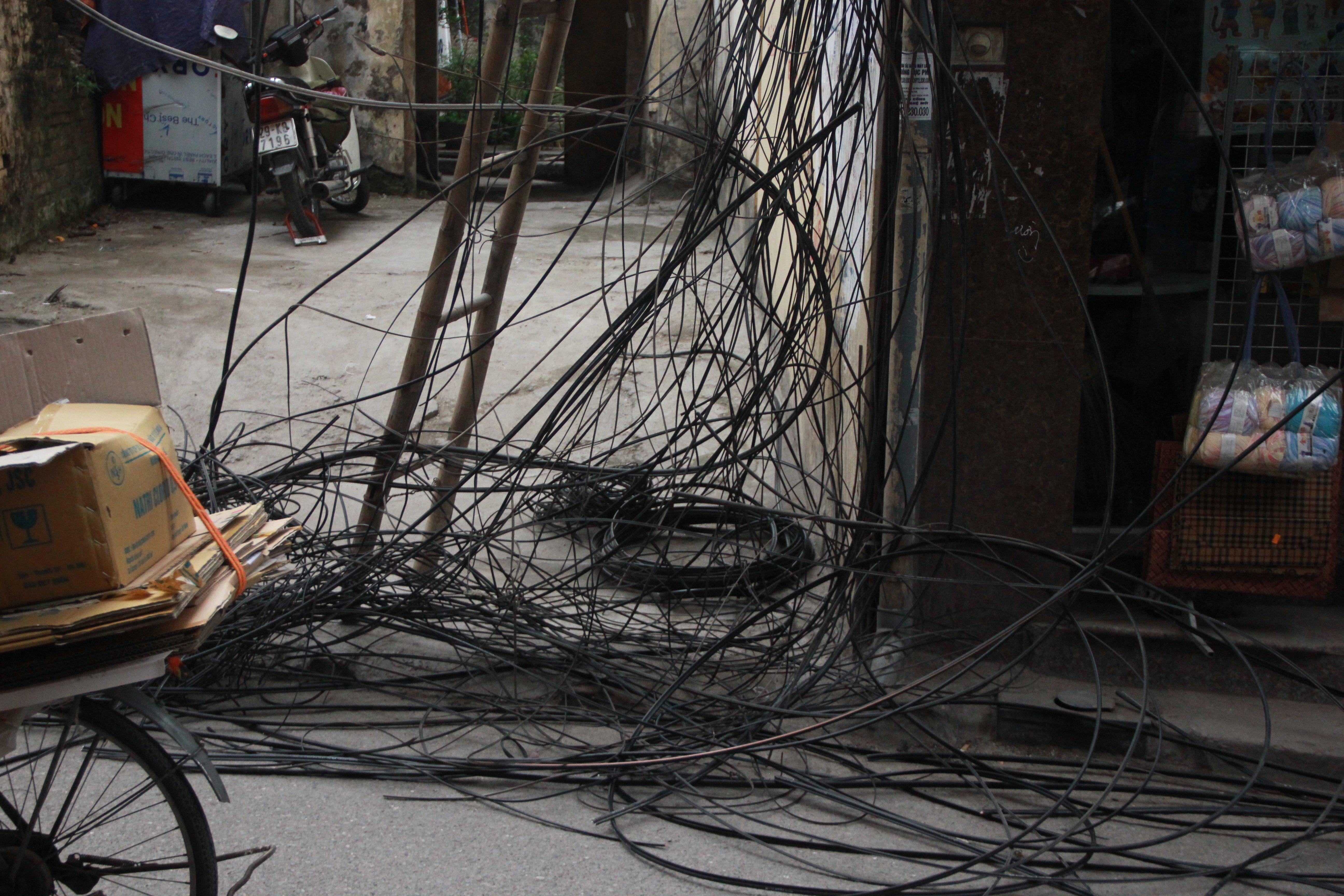 Hình ảnh Cận cảnh dọn ổ mạng nhện khổng lồ ở Hà Nội số 12