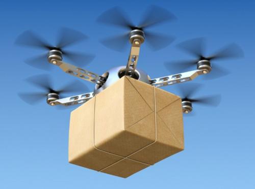 Robot và máy bay không người lái đi giao hàng 2