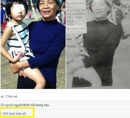 Hình ảnh Mẹ chồng đi lạc, con dâu lên mạng xã hội cầu cứu số 1