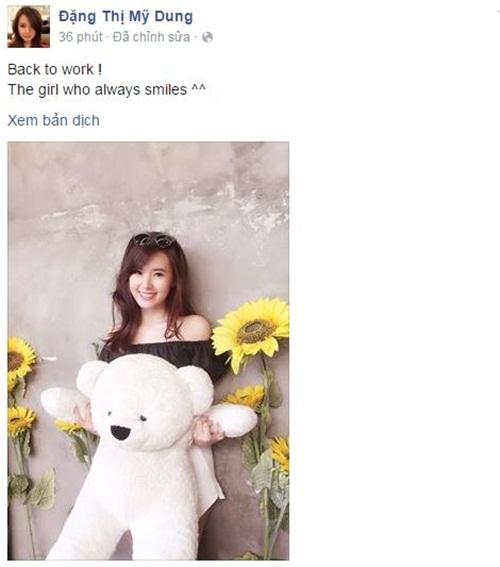Facebook sao Việt:  Midu tất bật với công việc sau scandal tình cảm 1