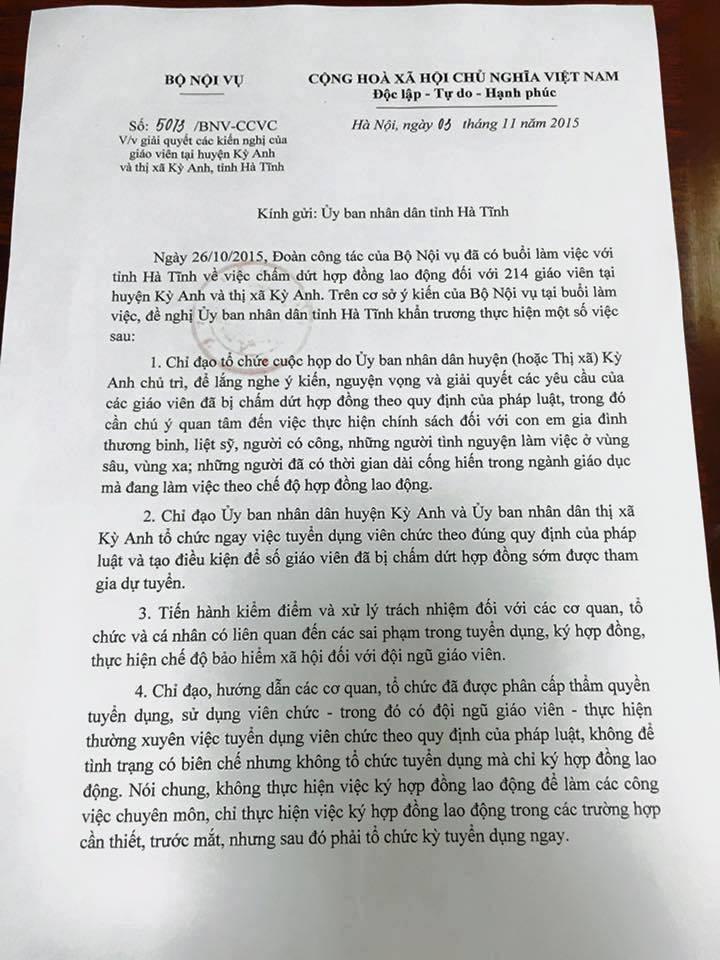 Giáo viên bị cắt hợp đồng ở Hà Nội, Hà Tĩnh được dự tuyển viên chức 2