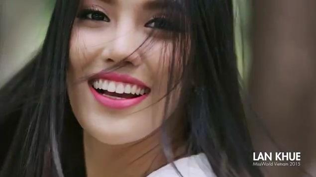 Lan Khuê 'đẹp không tì vết' trong clip 'tự bạch' tham dự Hoa hậu Quốc tế 1