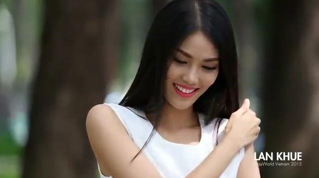 Lan Khuê 'đẹp không tì vết' trong clip 'tự bạch' tham dự Hoa hậu Quốc tế 2