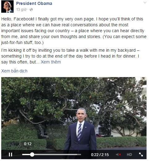 Tổng thống Obama gia nhập Facebook và muốn trò chuyện thực sự 2