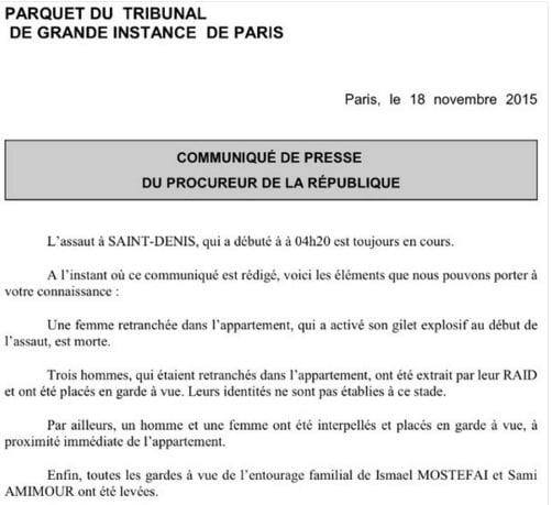Hình ảnh (Cập nhật) Đang đấu súng truy bắt kẻ chủ mưu khủng bố Paris - tóm gọn nhóm khủng bố số 1
