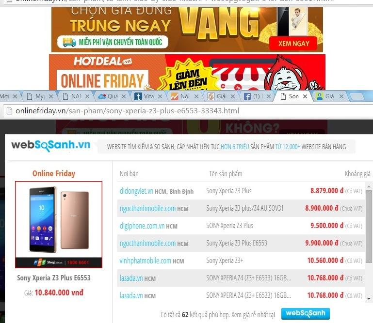 Onlinefriday: Giá không rẻ hơn, kém hấp dẫn 3