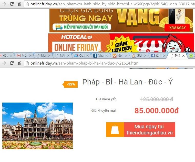 Onlinefriday: Giá không rẻ hơn, kém hấp dẫn 5