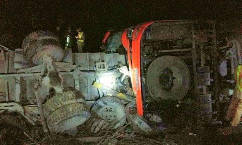 Tai nạn thảm khốc trên cao tốc Pháp Vân: Xe khách chạy 93km/h 1