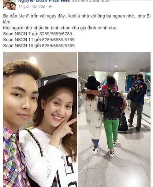 Facebook sao Việt: Khánh Thi - Phan Hiển 'trốn' con đi nghỉ dưỡng 1