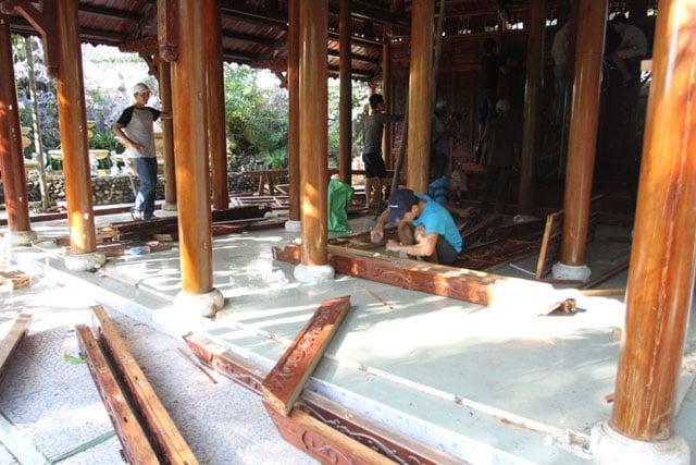 Cận cảnh tháo dỡ biệt phủ 100 tỷ của đại gia vàng ở Đà Nẵng 8