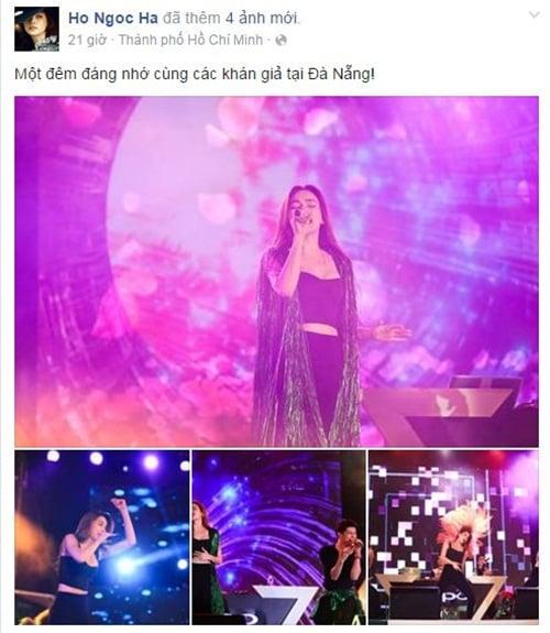 Facebook sao Việt: Hồ Ngọc Hà nóng bỏng trên sân khấu tại Đà Nẵng 1