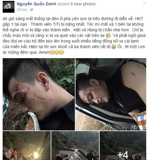 Nhóm nhạc HKT gặp tai nạn nghiêm trọng sau giờ diễn  1