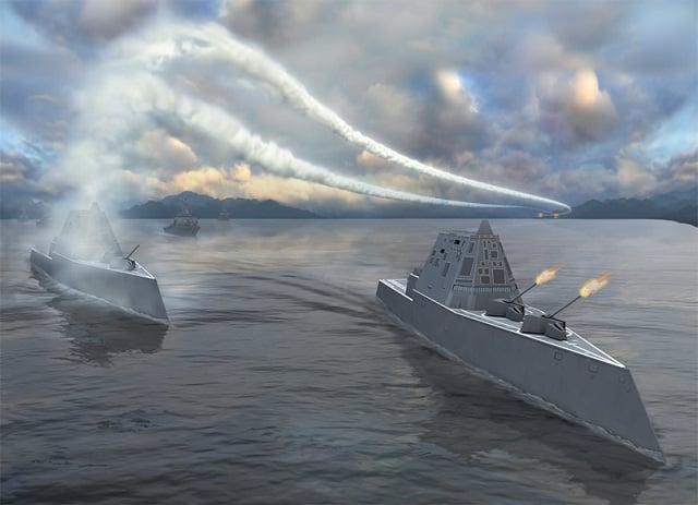 Quái vật tàng hình của hải quân Mỹ lần đầu tiên 'bơi' ngoài biển 3